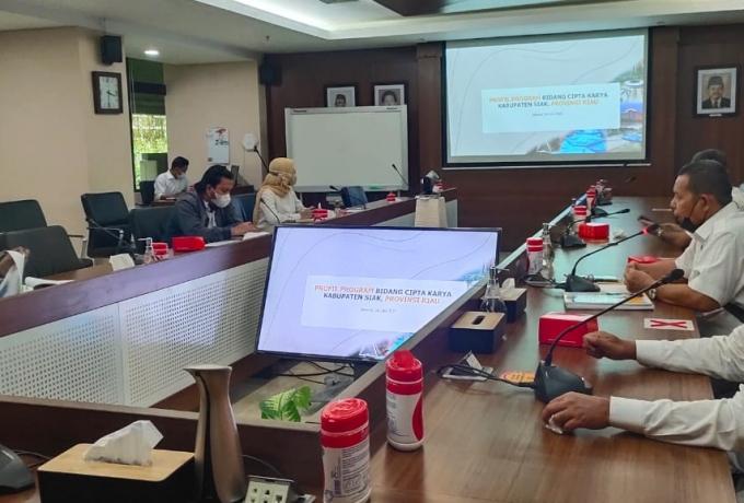 Ajukan Proposal Pembangunan Siak 2022, Bupati Siak Jumpai Dirjen Cipta Karya Kementrian PUPR