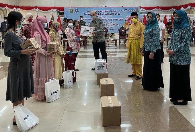 Riau Targetkan 14 persen Kasus Stunting, PT RAPP Salurkan 10.400 PMT