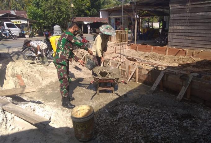 Warga Dusun Sumber Sari Kep. Suak Temenggung apresiasi giat TMMD.