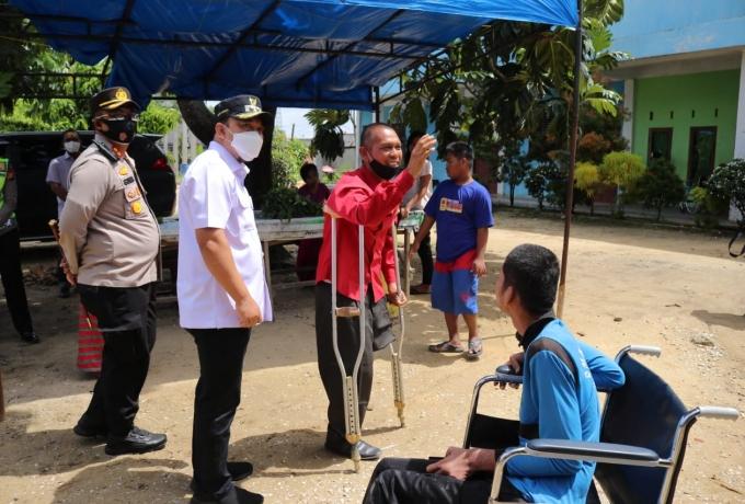 Wabup - Kapolres  Kunjungi Panti dan SLB Fajar Amanah