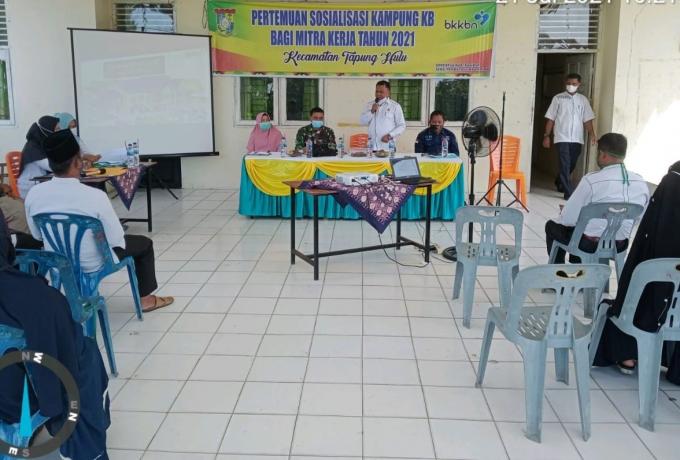 Dukung Program KB, Danramil 16/Tapung Hadiri Sosialisasi Kampung KB