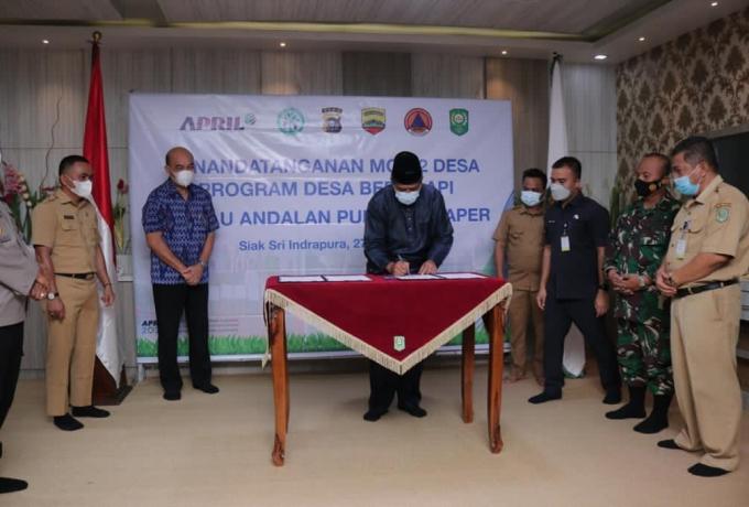 Cegah Karhutla di Masa Pandemi, PT RAPP Luncurkan Inovasi Holistik Program Desa Bebas Api di Siak
