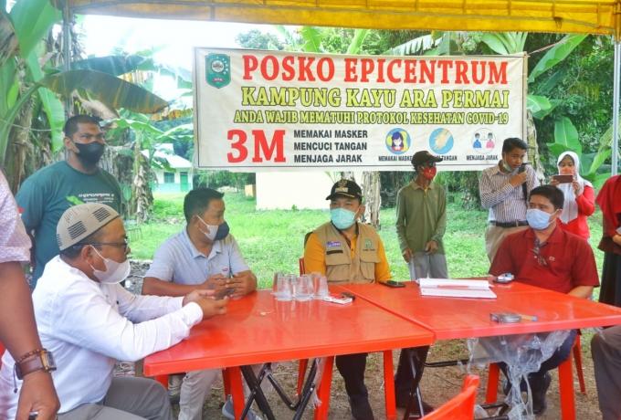 Wabup Husni lakukan Peninjauan Posko PPKM level 4 Sungai Apit