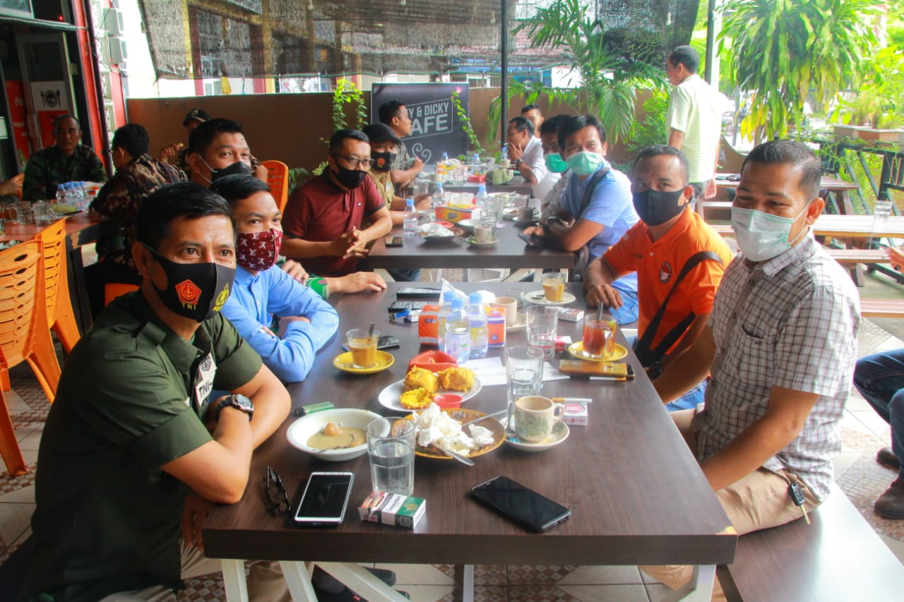 Menjalin Silaturahmi Dandim 0313/KPR Adakan Coffie Morning Bersama Insan Pers dan Sejumlah Ormas