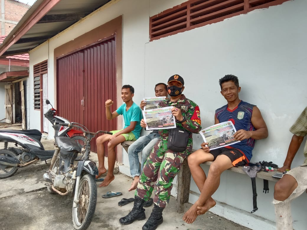 Sosialisasikan Penerimaan Prajurit TNI AD, Babinsa sambangi warga binaan.