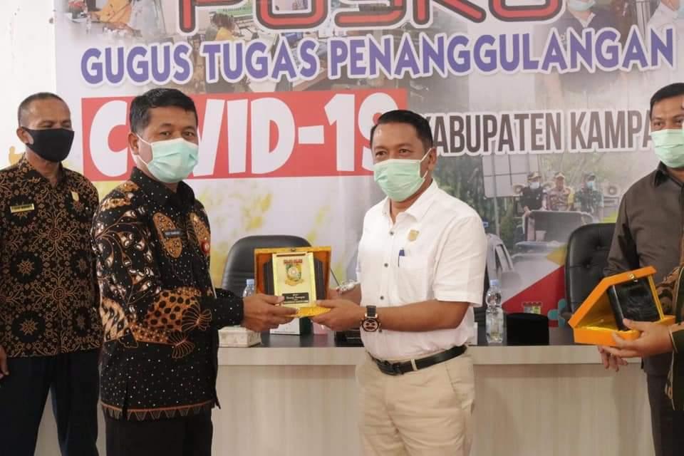DPRD Dari Dua Kabupaten di Sumbar Lakukan Studi Banding Penanganan Covid-19 Ke Dinkes Kampar