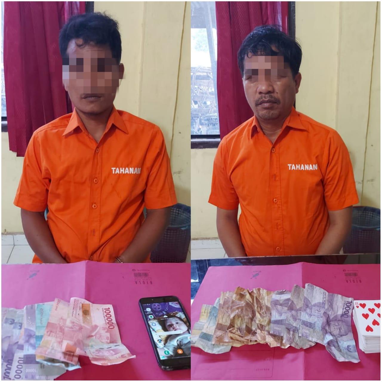 Polsek Tapung Hulu Tangkap Pelaku Judi Togel dan Pelaku Judi Kartu Remi di Desa Danau Lancang