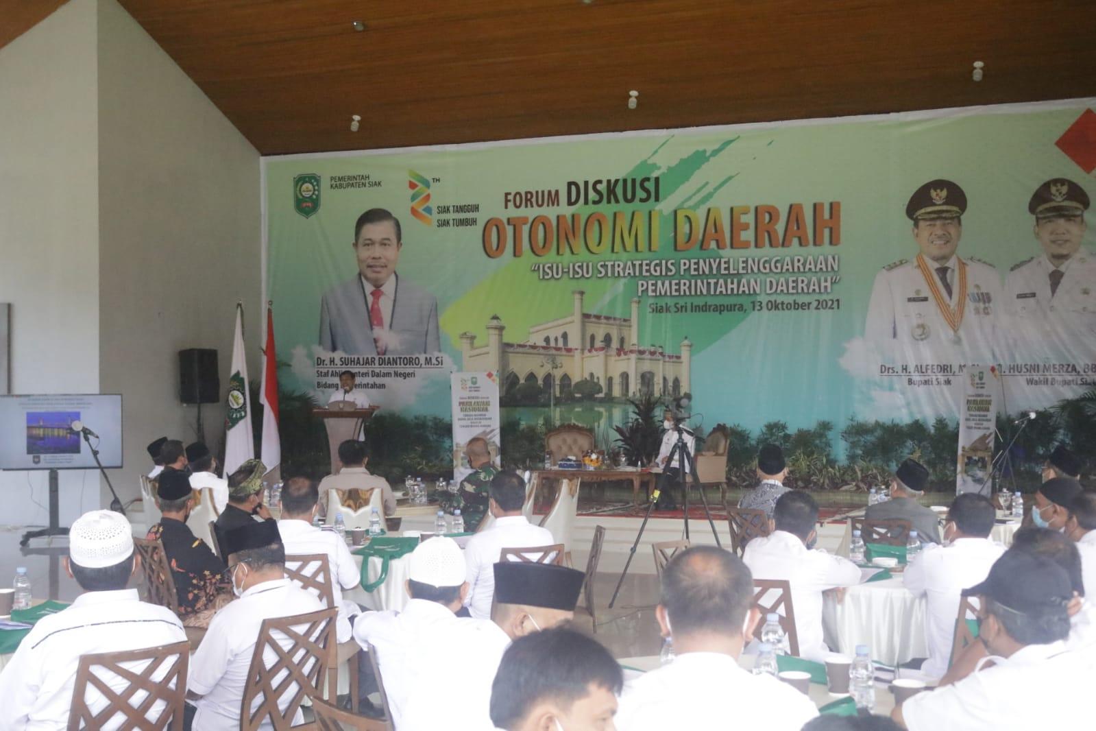 Bupati Alfedri Buka Kegiatan Forum Otonomi Daerah