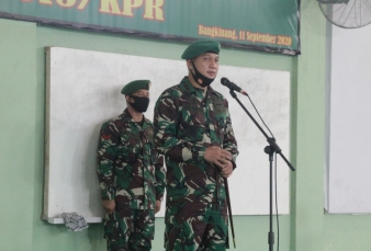 Dandim 0313/KPR Pimpin Serah Terima Jabatan Perwira Staf dan Danramil