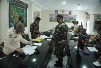 Tim Pengendalian Program Kerja Anggaran Kodam I/BB Kunker ke Makodim 0313/KPR