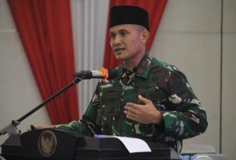 Danrem 031/WB Hadiri Pelantikan Pengurus Dewan Da'wah Islamiyah dan Pemuda Dewan Da'wah di Balai Bup