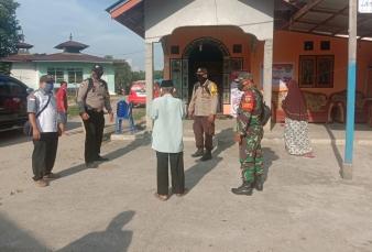 PAM Kampanye Dialogis, Danramil 13/Rokan Kodim 0313/Kpr Terapkan Protokol Kesehatan