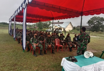 Prajurit Kodim 0313/KPR Mengikuti Latihan Gabungan Bencana Karlahut di Wilayah Kodim 0321/Rohil