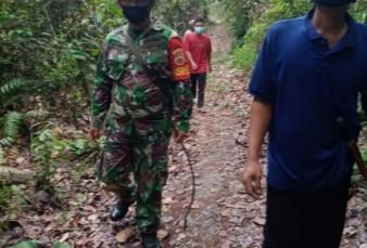 Cegah Karhutla, Babinsa Koramil 05/ Kampar Kiri Kodim 0313/Kpr Melaksanakan Patroli