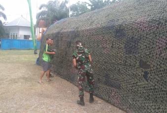 Kodim 0313/KPR Dirikan Posko TMMD Ke 110 Tahun 2021 Di Kecamatan Ujung Batu Kabupaten Rohul