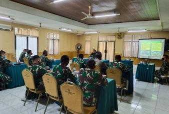 Dandim 031e/Kpr Pimpin Rakornis Kesiapan Pelaksanaan TMMD Ke 110 Di Aula Makorem