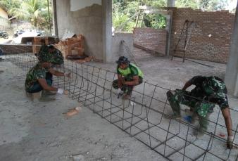 Pengerjaan Drainase Pada Kegiatan TMMD Ke 110 Sudah Pada Tahap Pembuatan Kerangka Besi.