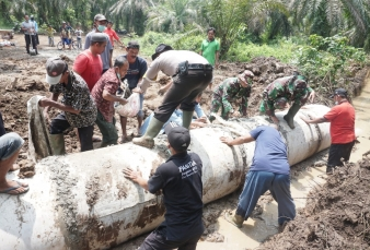 Dansatgas TMMD ke 110 Tinjau Lokasi sasaran 4 pembukaan Badan jalan