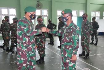 Dandim 0313/KPR Pimpin Upacara Korps Raport Kenaikan Pangkat anggota Kodim 0313/KPR