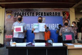 Dua Orang Pemalsu Hasil Test Swab Diamankan Polsek Bukit Raya