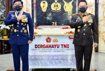 HUT ke-76 TNI, Kapolri : Sinergitas TNI-Polri Adalah Kunci Untuk Hadapi Tantangan dan Ancaman